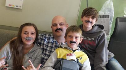 Brianna, Blake, Courtney and I doing our best for MOVEMBER